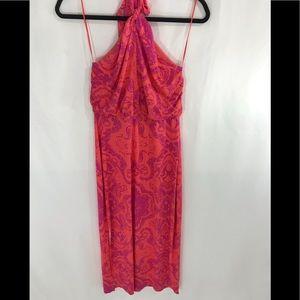 Cynthia Rowley Paisley Print Halter Dress